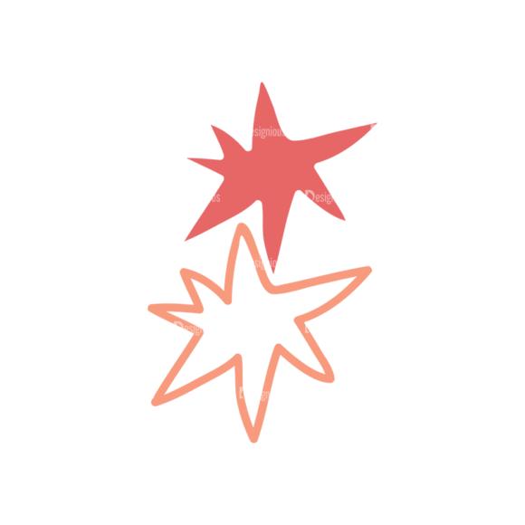 Sky Doodle Vector  Set 5 Vector Star 04 5