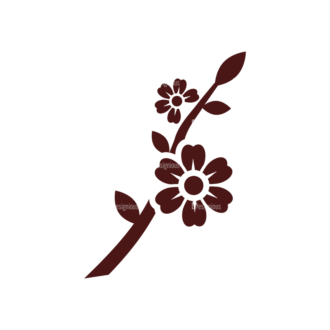 Spring Vector Elements Set 1 Vector Flower 03 Clip Art - SVG & PNG vector