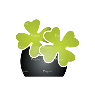 St Patrick'S Day Vector Elements Vector Clover Leaf 12 Clip Art - SVG & PNG leaf
