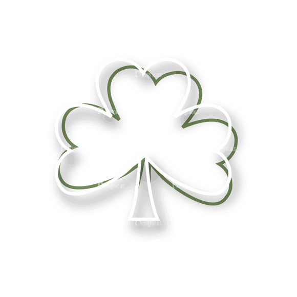 St Patrick'S Day Vector Elements Vector Clover Leaf 24 st patricks day vector elements vector clover leaf 24