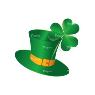 St Patrick'S Day Vector Elements Vector Hat 09 Clip Art - SVG & PNG vector