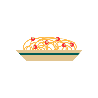 Stylized Italy Vector Icons Set 1 Vector Pasta Clip Art - SVG & PNG vector