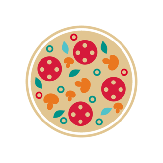 Stylized Italy Vector Icons Set 1 Vector Pizza 03 Clip Art - SVG & PNG vector