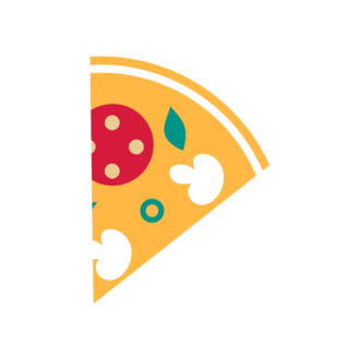 Stylized Italy Vector Icons Set 1 Vector Pizza 21 Clip Art - SVG & PNG vector