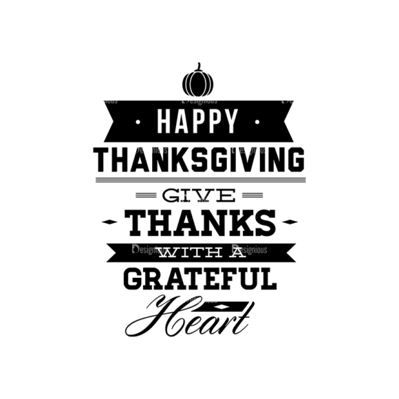 Thanksgiving Typography Set 1 Vector Expanded Thanksgiving 02 5