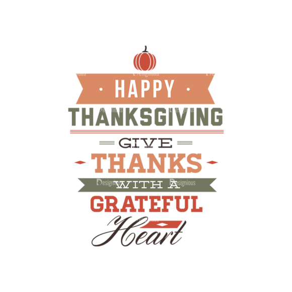 Thanksgiving Typography Set 1 Vector Expanded Thanksgiving 07 5