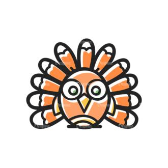 Thanksgiving Vector Set 12 Vector Turkey Clip Art - SVG & PNG vector