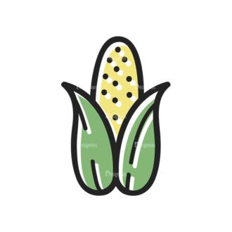 Thanksgiving Vector Set 13 Vector Corn Clip Art - SVG & PNG vector
