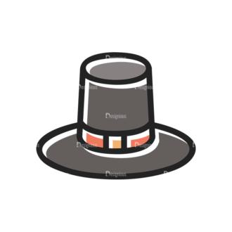 Thanksgiving Vector Set 13 Vector Hat Clip Art - SVG & PNG vector