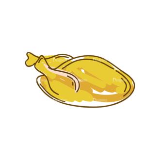 Thanksgiving Vector Set 8 Vector Chicken 09 Clip Art - SVG & PNG vector