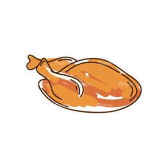 Thanksgiving Vector Set 8 Vector Chicken 10 Clip Art - SVG & PNG vector