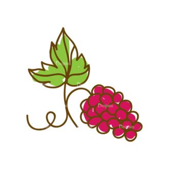 Thanksgiving Vector Set 8 Vector Grape 14 Clip Art - SVG & PNG vector