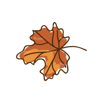 Thanksgiving Vector Set 8 Vector Leaf 07 Clip Art - SVG & PNG leaf