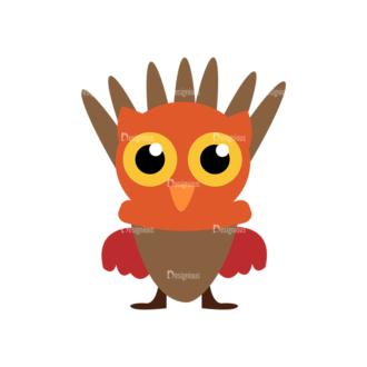 Thanksgiving Vector Set 9 Vector Owl Clip Art - SVG & PNG vector