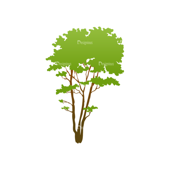 Trees Green Vector Tree 01 Clip Art - SVG & PNG tree