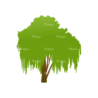 Trees Green Vector Tree 04 Clip Art - SVG & PNG tree