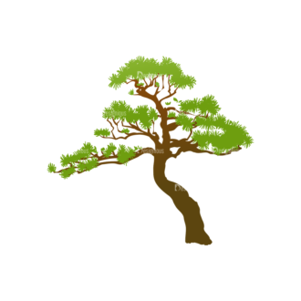 Trees Green Vector Tree 05 Clip Art - SVG & PNG tree