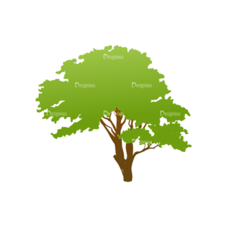 Trees Green Vector Tree 08 Clip Art - SVG & PNG tree