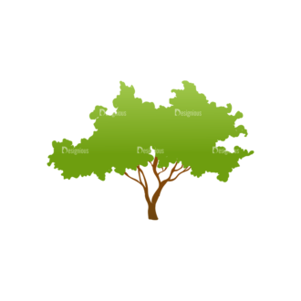Trees Green Vector Tree 13 Clip Art - SVG & PNG tree