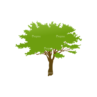 Trees Green Vector Tree 16 Clip Art - SVG & PNG tree