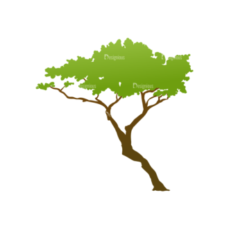 Trees Green Vector Tree 17 Clip Art - SVG & PNG tree