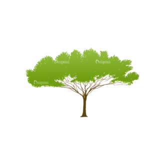 Trees Green Vector Tree 18 Clip Art - SVG & PNG tree