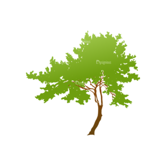 Trees Green Vector Tree 21 Clip Art - SVG & PNG tree