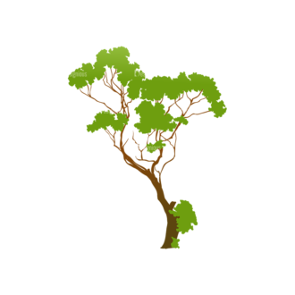 Trees Green Vector Tree 22 Clip Art - SVG & PNG tree