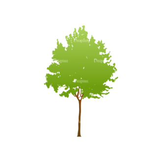 Trees Green Vector Tree 23 Clip Art - SVG & PNG tree
