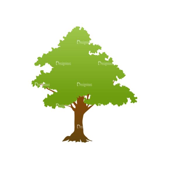 Trees Green Vector Tree 24 Clip Art - SVG & PNG tree