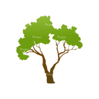 Trees Green Vector Tree 28 Clip Art - SVG & PNG tree