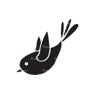 Valentine'S Day Elements Set 1 Vector Bird Clip Art - SVG & PNG vector