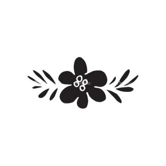 Valentine'S Day Elements Set 1 Vector Flower Clip Art - SVG & PNG vector