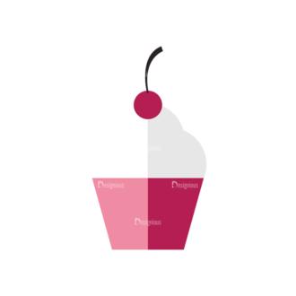 Valentines Day Symbols Vector Set 3 Vector Cupcake Clip Art - SVG & PNG vector