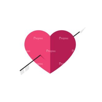 Valentines Day Symbols Vector Set 3 Vector Heart Clip Art - SVG & PNG vector