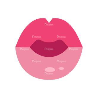 Valentines Day Symbols Vector Set 3 Vector Lips Clip Art - SVG & PNG vector