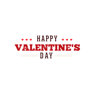 Valentines Day Typographic Elements Vector Valentines 02 Clip Art - SVG & PNG vector
