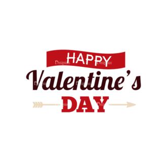 Valentines Day Typographic Elements Vector Valentines 03 Clip Art - SVG & PNG vector