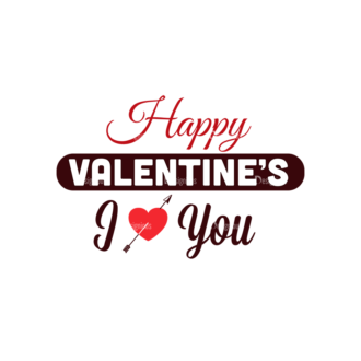 Valentines Day Typographic Elements Vector Valentines 04 Clip Art - SVG & PNG vector