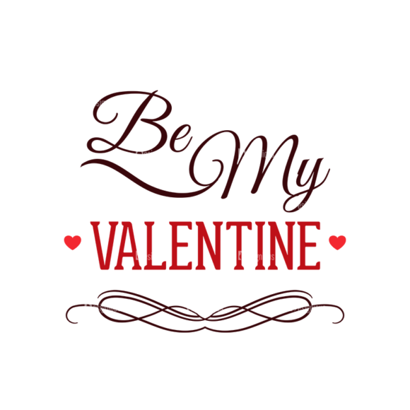 Valentines Day Typographic Elements Vector Valentines 05 5