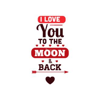Valentines Day Typographic Elements Vector Valentines 07 Clip Art - SVG & PNG vector