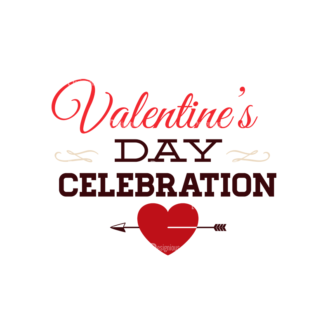 Valentines Day Typographic Elements Vector Valentines 09 Clip Art - SVG & PNG vector