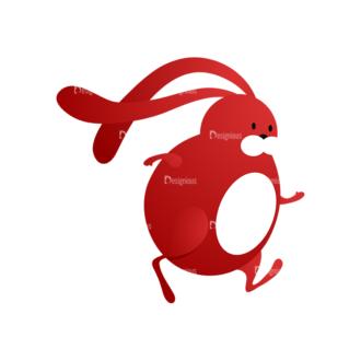 Vector Bunnies And Eggs Vector Bunnies Egg 04 Clip Art - SVG & PNG vector