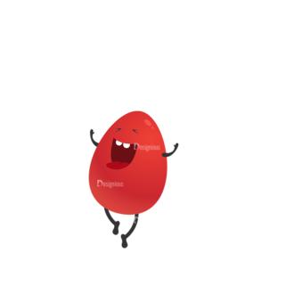 Vector Bunnies And Eggs Vector Bunnies Egg 06 Clip Art - SVG & PNG vector