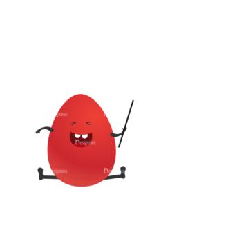 Vector Bunnies And Eggs Vector Bunnies Egg 12 Clip Art - SVG & PNG vector