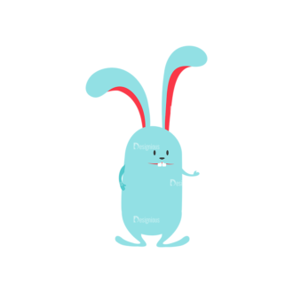 Vector Easter Characters 1 Vector Bunny 01 Clip Art - SVG & PNG vector