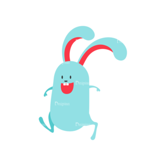 Vector Easter Characters 1 Vector Bunny 02 Clip Art - SVG & PNG vector