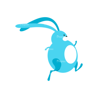 Vector Easter Characters 1 Vector Bunny 05 Clip Art - SVG & PNG vector