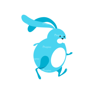 Vector Easter Characters 1 Vector Bunny 06 Clip Art - SVG & PNG vector