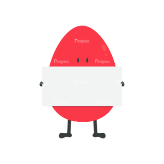 Vector Easter Characters 1 Vector Egg 09 Clip Art - SVG & PNG vector
